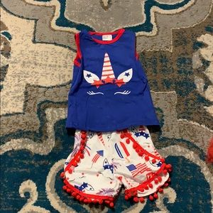 Other - Toddler shirt and shirt set-red white and blue